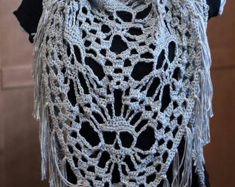 Skull detail triangle scarf
