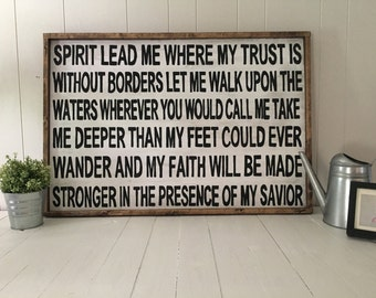 Spirit Lead Me  Handmade Wood Sign