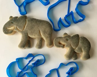Elephant and Baby Cookie Cutter Set Bundle