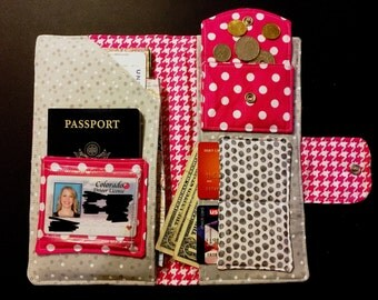 Travel Wallet - Pink Paris