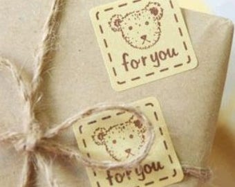 160pcs teddy bear FOR YOU labels