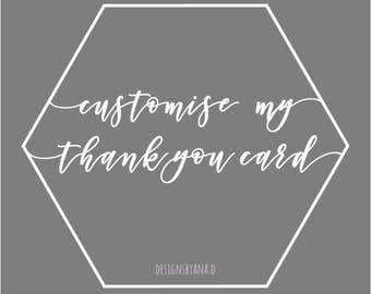 Customise Thank You Card