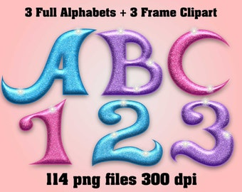Shimmer and Shine - Full Alphabet Clipart - 114 png files 300 dpi