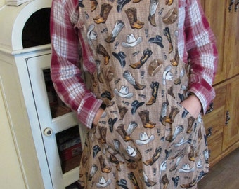 Cowboy Apron with Pockets
