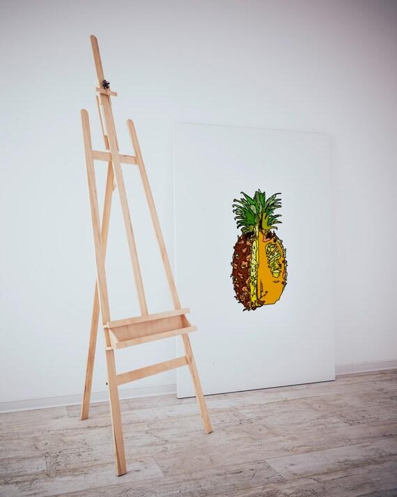 Pineapple. Digital Art, Printable Art, Inspirational Print. Tropical print,Kitchen wall decor,Food print, pop art print, Tropical wall decor