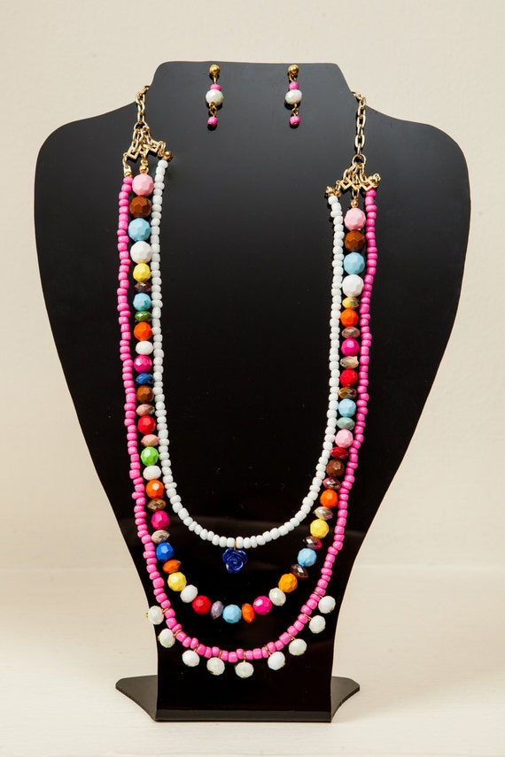 and colorful beaded necklace