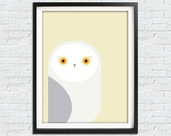 Modern Nursery Art, Owl Wall Art, Nursery Kids Prints, Owl Nursery Print, Nursery Animal Decal, Neutral Baby Room Decor, Printable Art