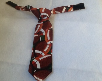 Football toddler tie, sporty accessories, weddings, suits, kids suits,funeral,toddler suit accessories