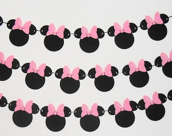 3 Tier Minnie Mouse Birthday Banner | Minnie Mouse 1st Birthday Party Decorations | Minnie Mouse Garland | Minnie Mouse Clubhouse Banner