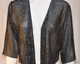 Silk metallic shrug by Dorchester Collection size 10