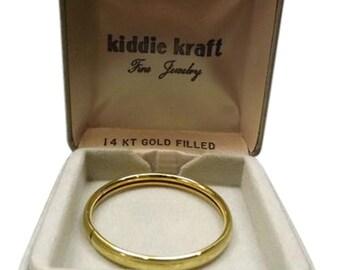 Vintage 14kt Gold Filled Bangle Baby Bracelet