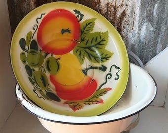 Vintage enamelware basin