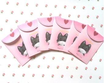 Pink envelopes / cute envelopes / pretty envelopes / kawaii envelopes / cute envelopes / cat envelopes / small envelopes
