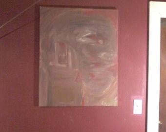 """24""""×30"""" untitled acrylic."""