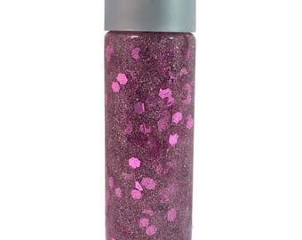 Sensory Bottle  / Calming Jar / Autism / ADHD /Sensory Processing Disorder / Pink Sprarkle / Soothing / Preschool / Toddler / Classroom Tool