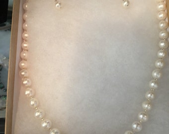 White Freshwater Pearl High Luster Set