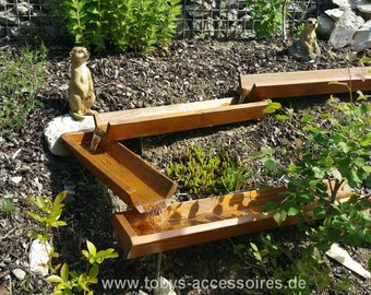 Wood gutter 125 cm - for a waterway of a special kind