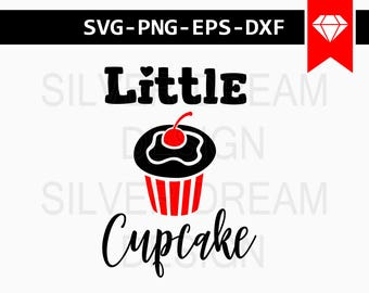 little cupcake svg, onesie designs, cupcake svg, onesie svg, baby svg, svg files for silhouette cameo, cut files, cricut downloads, svg, png