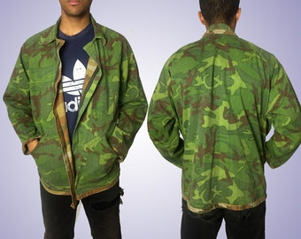 Reversible Zip-up Army Jacket