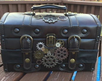 Leather Steampunk box