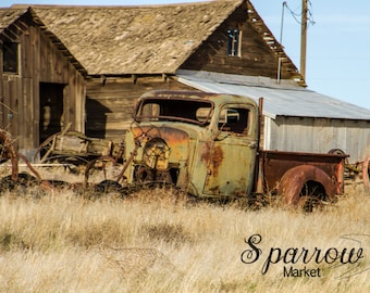 Farm Yard, Abandoned Truck, Old Truck, Old Pickup, Farm Truck