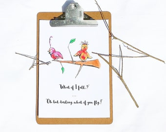 What If You Fly..? Art Print - Little Birds Collection