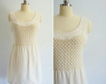1960s Penny Lane crochet dress | vintage 60s mini dress | vintage crochet dress