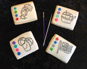 Water Color Sugar Cookies- 1 Dozen