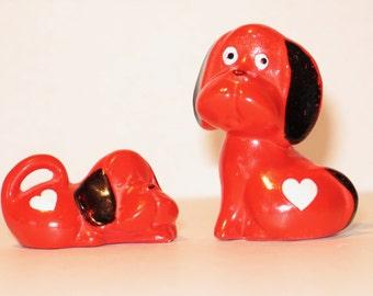 Vintage 1970s dog figures