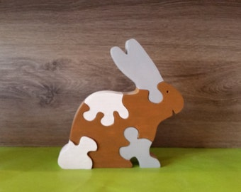 Bunny wooden puzzle toy