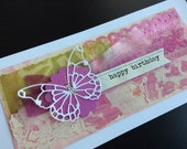 Handmade Art Card - Happy Birthday