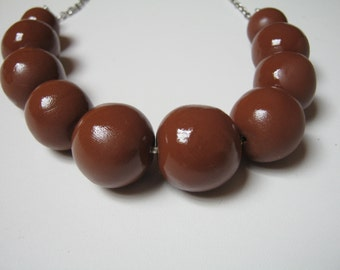 Caramel necklace - caramelo - hand made - for them - go out - fimo - beads
