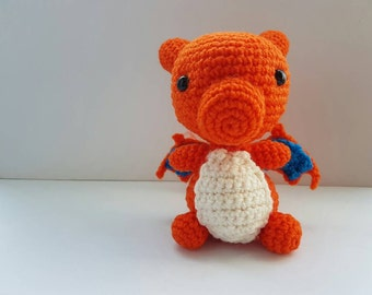 Charizard Amigurumi/crochet | Pokemon inspired plush | gifts for her | gifts for him | birthday | videogame | [Made to order]