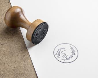 handmade stamp wedding baptism birthday logo with your initials individually designed