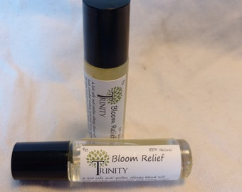 Bloom Relief // Kid Safe Ready to use Essential Oil Roller Bottle // Pollen Allergy Relief // Sneezing, Watery Eyes // All Natural