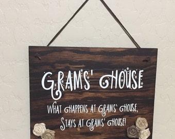 Gram's House Sign