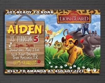 Lion Guard Invitation, Lion Guard Invite, Printable Lion Guard Invite, Lion Guard Birthday Invitation, Lion Guard Thank You Card | MLG_01