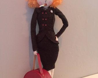 Rita Limited Edition 1940s Art Doll collectors soft sculpture