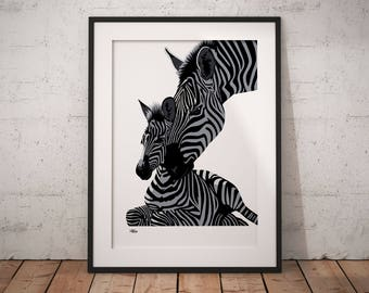 Safari nursery, zebra print, nursery animal print, zebra gift, nursery wall art, zebra art, zebra decor, zebra wall art, safari decor, zebra
