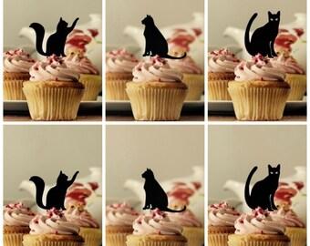 Cupcake Picks Cats, Cat Cupcake Toppers, Cupcake Toppers, Cat Cake Decorations, Cat Cake Topper,Cupcake Toppers, Cake decorations