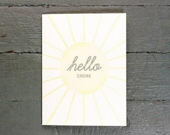 Hello Sunshine Greeting Card