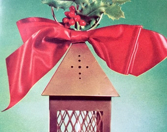 SALE! Vintage Christmas Card RARE Stanley Greetings Photo Litho 1957 Original Envelope