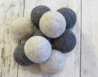 XL Wool Dryer Balls - dryer balls, felted balls, wool gift set, xl dryer balls, house warming gift, organic cleaning, natural cleaning