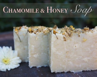 Chamomile Honey Soap, Handmade Soap, All Natural Soap, Cold Processed Soap