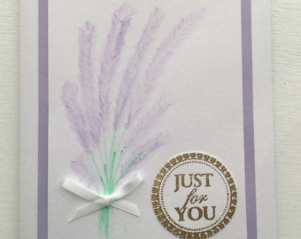 Hand painted - Just for You card