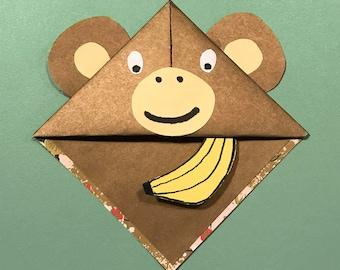 Corner Bookmark Monkey