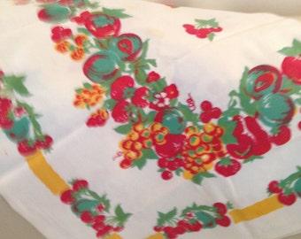 Vintage Cherry & fruit tablecloth