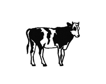 Cow Machine Embroidery Design, Cow embroidery design, Cow design, Cow embroidery pattern, Cow machine embroidery pattern