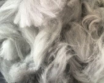 Gray English Angora Wool
