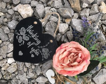 Thinking of you, get well soon, slate heart